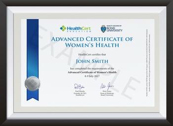 Advanced Certificate of Women's Health