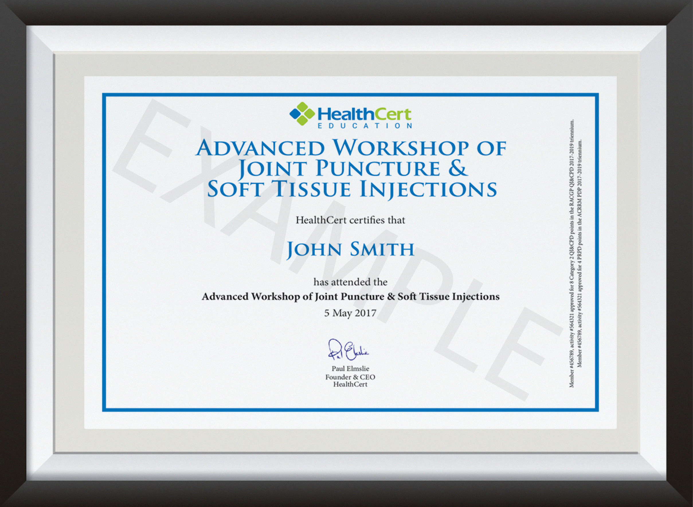 Advanced Workshop in Joint Puncture and Soft Tissue Injections