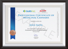 Professional Certificate of Medicinal Cannabis