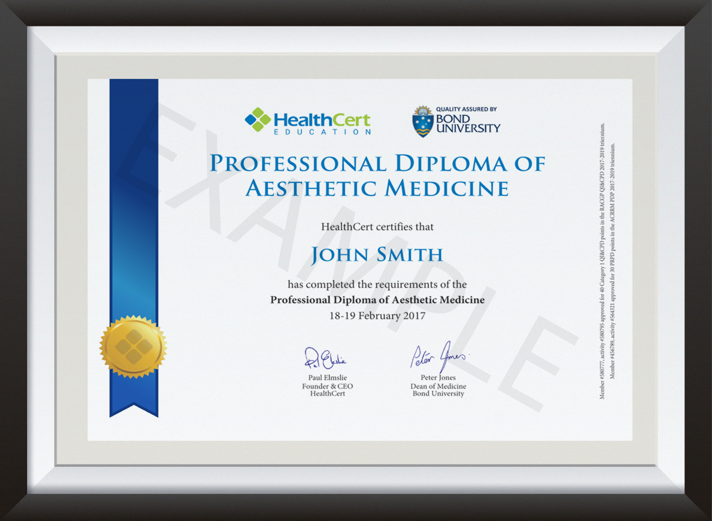 Professional Diploma of Aesthetic Medicine