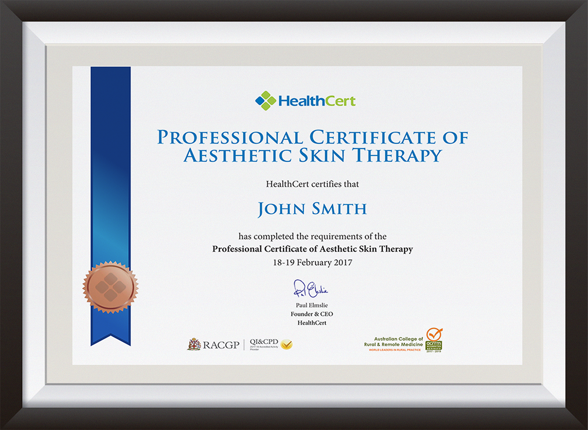 PCAST certificate
