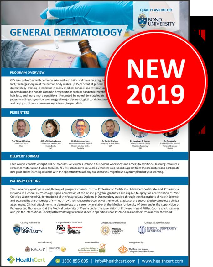 Professional Certificate of Dermatology - Skin, Hair, Nails