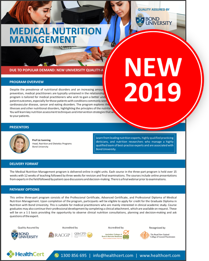 Certificate and Diploma program in Medical Nutrition Management