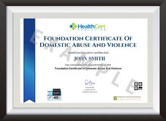 Foundation Certificate of Domestic Abuse and Violence