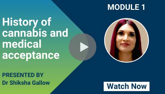 Professional Certificate of Medicinal Cannabis: History of cannabis and medical acceptance